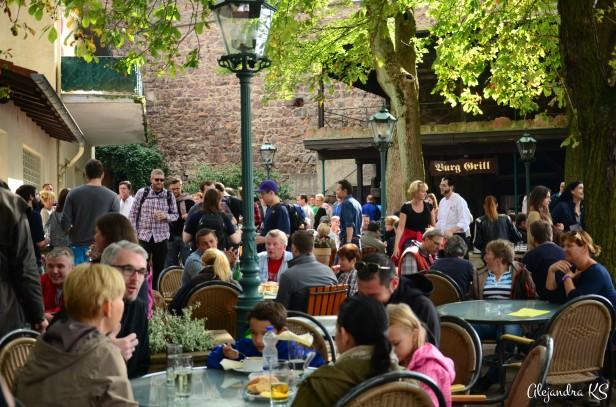 Restaurante en el antiguo castillo Strahlenburg